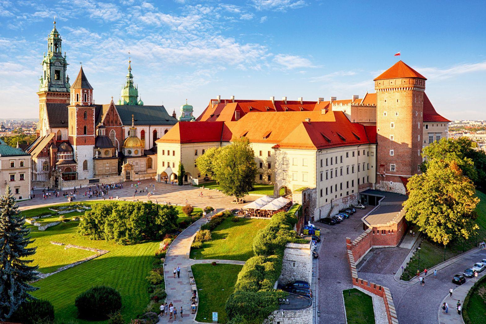 Wawel Castle in Krakow in summer